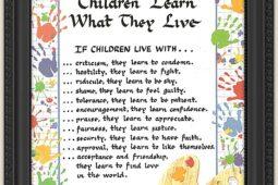 Copiii învață din ceea ce trăiesc